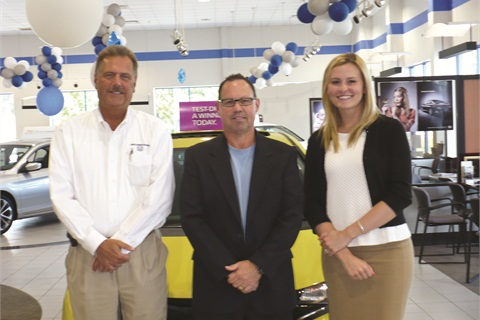 In the summer of 2012, Chris Meacham (center) teamed up with Jack Matia Honda's General Manager Nichael Neri and F&I Director Michelle Matia to develop a customer-friendly F&I process built around the tablet menu.