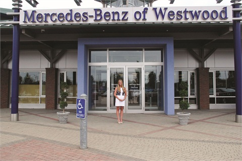 Finance Manager Trisha Winski has worked at Mercedes-Benz of Westwood for the past nine years.