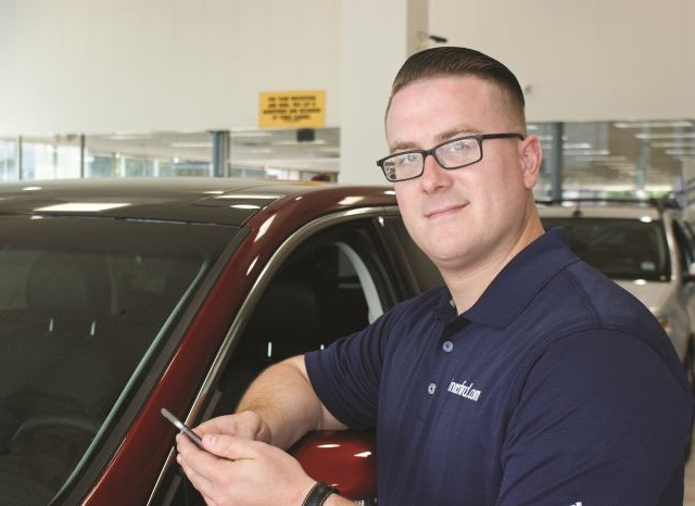 At Winner Ford in Cherry Hill, N.J., Digital Marketing Manager Andy Dasher is using a text-messaging platform to improve his store's communications with prospects and existing customers. Photo: Matt Morris
