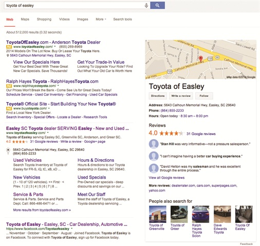 More than two-thirds of Internet searches are performed on Google, and Google Reviews are instantly visible to potential customers. Better yet, they offer business owners the opportunity to respond.