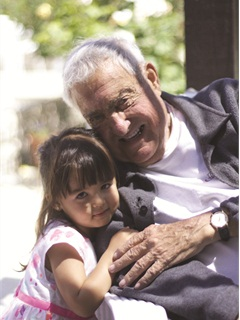 Ed Bobit with his great-granddaughter, Alice Bobit.