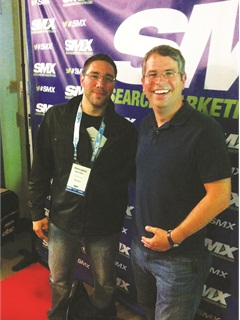 This year's SMX Advanced featured the head of Google's Webspam team, Matt Cutts (right, with Mindgeek Canada's George Konidis). Cutts said mobile searches would soon outpace desktop searches, and that responsive, adaptive and separate mobile sites are all fully viable options for Web developers.