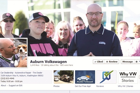 Auburn VW's commitment to the community is apparent on the dealership's home page, Facebook profile and Twitter feed. In November, owner Matthew Welch bought a local spot on Monday Night Football to help promote Team Tracy, a 50-member team in the Susan G. Komen Foundation, which raises money to fund breast cancer research. Welch planned to donate the profits from the sale of a pink vinyl-wrapped 2013 Beetle to the cause.