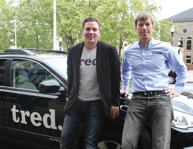 John Wehr (left) and Grant Feek (right) cofounded Tred in 2012. Wehr, the company's chief technology officer, spearheaded technology projects for HiiDef Inc., creators of Flavors.me and Goodsie.com.
