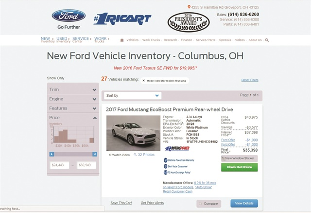 AutoFi went live on Jan. 4 at Ricart Ford in Groveport, Ohio, 24 days before officials demoed the platform for F&I and Showroom.