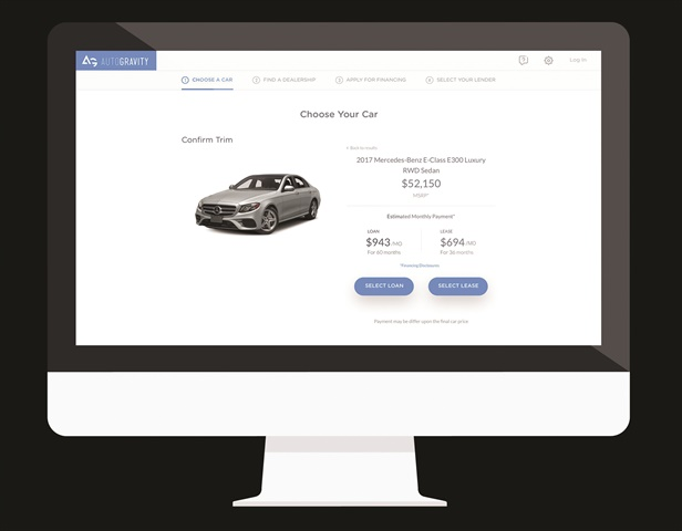 <p>AutoGravity is one of a slew of fintech firms looking to alter how car buyers interact with both dealers and finance sources. With the financial backing of Daimler AG, the Irvine, Calif.-based company was founded in October 2015 by two former employees of Daimler Financial Services. </p>