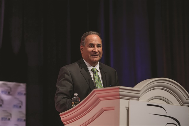 Bill Himpler, executive vice president of the American Financial Services Association, provides an update on federal regulatory and legislative issues impacting the auto finance industry. (Photo courtesy of AFSA)