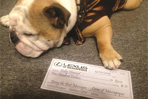 "Aside from faux champagne and cupcakes, Lexus of Massapequa also held a pet contest via social media. ""Baby Howard"" was the winner and appeared in various promotions for the dealer during the month of November."