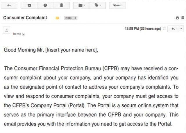 An invitation to join the CFPB's Company Portal should not be ignored, and some dealers may choose to sign up preemptively.