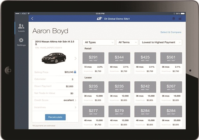Dealertrack's Digital Retailing App allows dealership personnel to access information customers submit online right from a mobile device.
