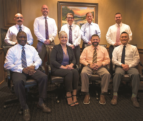 The F&I team, pictured above, averages more than $1,700 per copy on new and just less than $1,500 on used. Their selling tool of choice is Darwin Automotive's F&I selling system, which Wilson says fits nicely with the group's customer-first sales and F&I process.