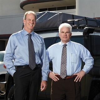 Toyota of Escondido's Scott Whitehead (left), general manager, and  Tom Belt, general sales manager, believe accessory sales will improve  sales figures.