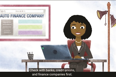 The agency's 'Finance a Car' video advises consumers to check with their banks, credit unions and finance companies first, then take their best finance offer with them to the dealership.