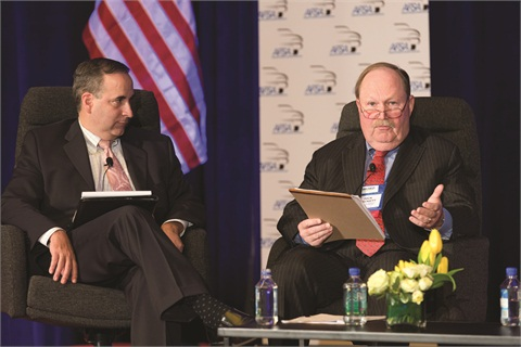 Richard Hackett, the CFPB's assistant director, took part in a panel discussion during the AFSA's Vehicle Finance Conference. Serving as moderator was Bill Himpler, the association's executive vice president.