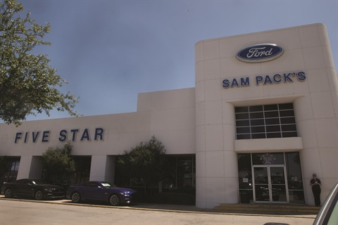 <p>The Sam Pack organization operates four Ford stores, including the Lewisville location, a Chevrolet point, and a soon-to-be-opened Subaru store in the sprawling Dallas-Fort Worth metro area. The Lewisville location is the No. 43 Ford retail outlet in the nation in terms of sales volume.</p>
