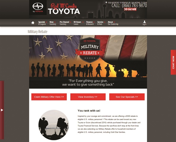 In the military-heavy San Antonio market, electronic lien and titling is critical to securing servicemember business for Red McCombs Toyota.