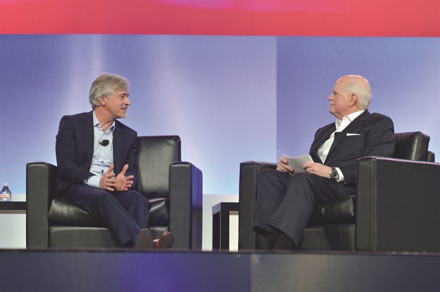 At the National Automobile Dealers Association's annual convention this past March, Waymo CEO John Krafcik told attendees he was confident Waymo's technology would have avoided the fatal accident in Tempe, Ariz. (Photo courtesy of NADA)