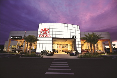Sun Toyota, which has operated along the Gulf Coast of Florida for 37 years, is well known for its state-of-the-art facility and no dealer fee policy.