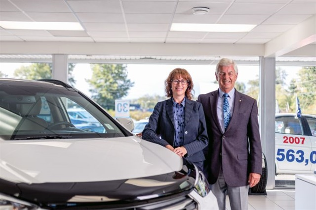 General Manager Sue Finneron and her father, owner Mike Finneron, earned distinction as Canada's No. 1 Hyundai dealers seven years after the loss of their 30-year-old General Motors franchise forced them to start over from scratch.  Photos by Jessesavage.ca