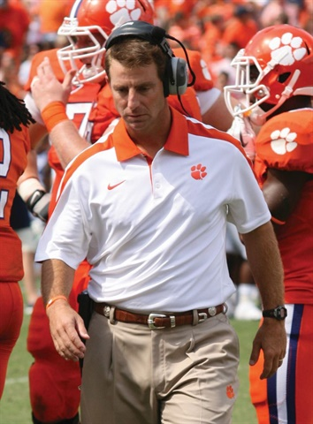 "Dabo Swinney is head coach of the Clemson Tigers and a former Alabama player and assistant coach. He and his team are ""All In,"" dedicated to doing their jobs and equipping others to do theirs. Photo: Parker Anderson/Flickr"