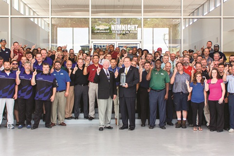 The team at the Jacksonville, Fla.-based Nimnicht Chevrolet earned General Motor's 2014 Dealer of the Year Award.