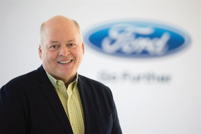 Jim Hackett has replaced the departed Mark Fields as president and CEO of Ford Motor Co. Ziegler hopes Hackett will be as receptive to dealer concerns as his predecessors. Photo courtesy Ford Motor Co.