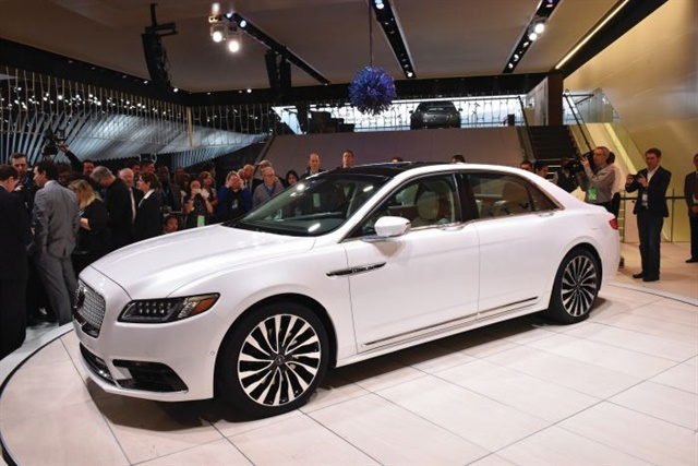 The author loves the look and feel of the 2017 Lincoln Continental (pictured at its Detroit auto show premiere) but worries Ford has so far failed to aggressively market the new car.