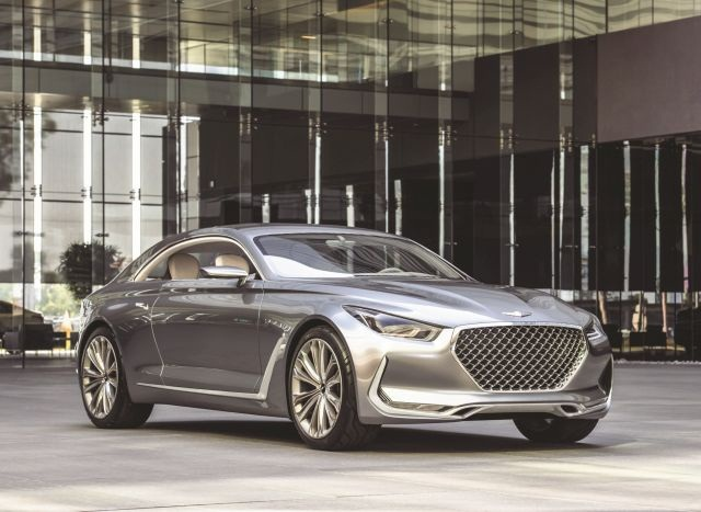 "Hyundai has announced plans to spin off the popular Genesis into its own brand and lineup, including the ""Vision G"" sport coupe, above. Ziegler predicts standalone facilities and sales forces will soon follow."