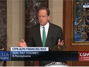 U.S. Senate Approves Resolution to Repeal CFPB's Dealer Participation Guidance