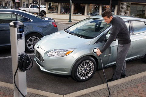 The 2012 Ford Focus Electric.