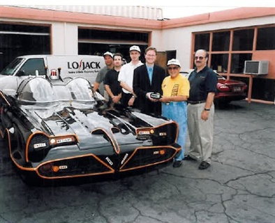 "The original ""Batmobile"" had the distinction of being equipped with the one-millionth LoJack Stolen Vehicle Recovery System in 1999. Photo courtesy of LoJack Corporation."