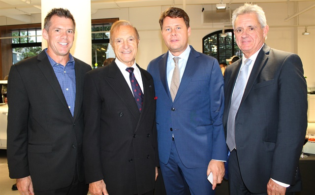 Bob Jacobs, head of marketing, communications, and product strategy at Volvo Car Group; Ray Ciccolo; Anders Gustafsson; Rick Bryant, executive vice president of sales operations at Volvo Cars USA