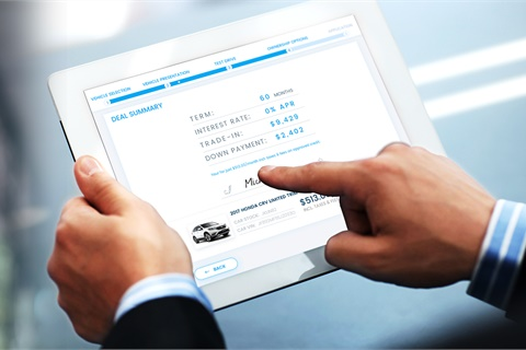 Among other features, Prodigy's automotive sales system was designed to enable a seamless transition from online to instore sales and vice versa. Photo courtesy Prodigy