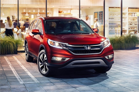 The 2017 Honda CR-V is the top seller among the two-row SUVs Kelley Blue Book included in its latest list of top family vehicles. Photo courtesy American Honda Motor Co. Inc.