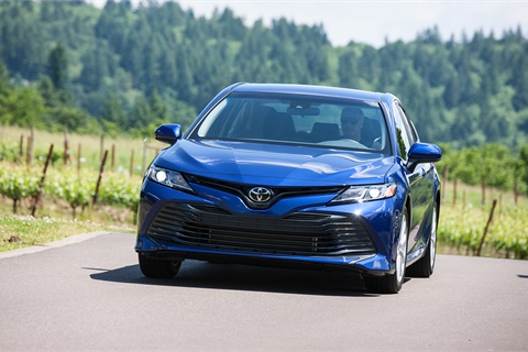 Sales of the new-for-2018 Toyota Camry grew 21.3% in January, making the Camry America's most popular car and helping to propel a strong overall showing for international nameplates. Photo courtesy Toyota Motor Sales USA Inc.