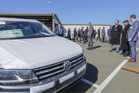 The Port of Benicia on San Francisco Bay is the home of a new facility supporting vehicle delivery to Northern California Volkswagen, Audi, Bentley and Porsche dealers. Photo courtesy Volkswagen Group of America