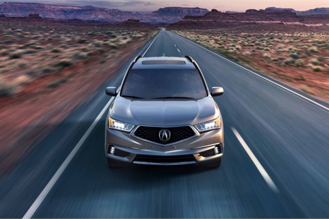 The Acura MDX led a surge in website and vehicle description page visits during the first weekend of the NCAA men's basketball tournament. Photo courtesy American Honda Motor Co.