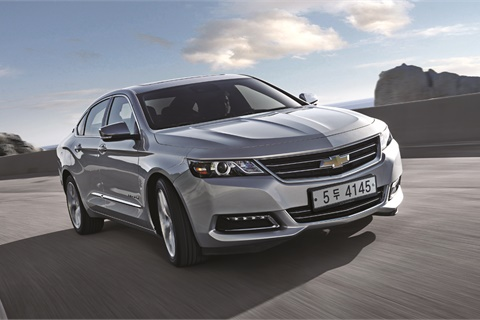 The Chevrolet Impala leads Jumpstart's 2016 list of most cross-shopped nonluxury vehicles across the company's portfolio of websites. Photo courtesy General Motors Co. LLC