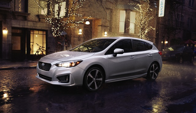 Strong sales of the redesigned Impreza have helped put Subaru in position for a record April despite tepid numbers industrywide. Photo courtesy Subaru of America Inc.