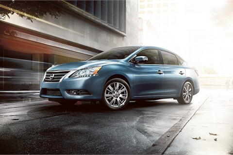 Compact cars such as the Nissan Sentra finished March with an industry-leading value-retention rate of 2.5%, according to the latest numbers from Black Book. Photo courtesy Nissan USA