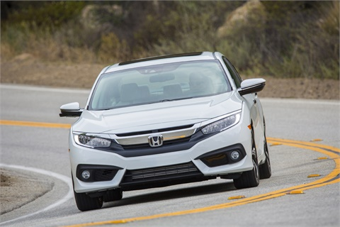 In April, U.S. sales of vehicles produced by Honda, including the Civic sedan, fell 6.3% compared to the same month a year ago. Photo courtesy American Honda Motor Co. Inc.