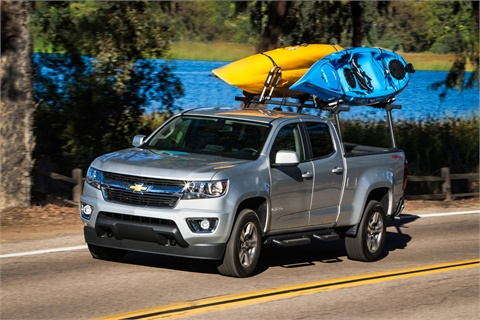 Small pickups such as the Chevrolet Colorado enjoyed a 0.5% gain in Black Book's latest used-vehicle index, despite an overall decline led by subcompact, full-size and mid-size cars. Photo courtesy General Motors Co.