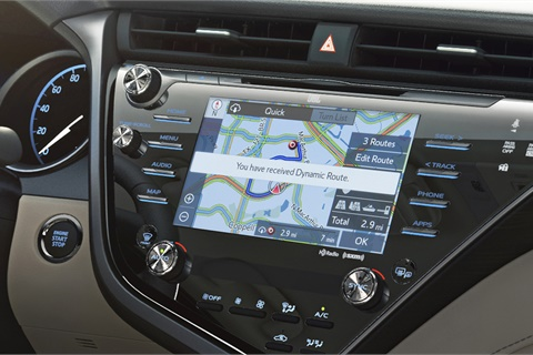 Nearly half of all respondents to an IHS Markit survey ranked navigation as their most desired piece of in-vehicle technology. Photo courtesy Toyota Motor Sales USA Inc.