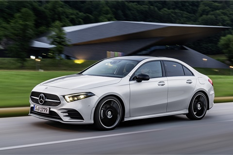 Due in time for the 2019-MY, the A-Class will supplant the CLA-Class as Mercedes-Benz's entry-level sedan in North America. Photo courtesy Mercedes-Benz USA