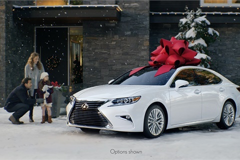 "Ad campaigns such as Lexus' ""December to Remember"" rule the holiday-season airwaves, helping to drive shopper interest in luxury cars and SUVs. Photo courtesy Toyota Motor Sales USA Inc."
