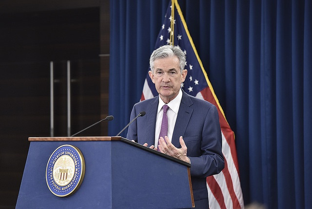 FOMC Chairman Powell answers a reporter's question at the June 13, 2018 press conference.
