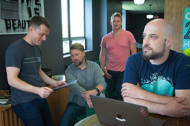 Fluency founders Brian McVey, Eric Mayhew, Scott Gale, and Mike Lane.