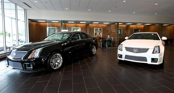 A look inside Suburban Cadillac of Ann Arbor's newly upgraded showroom. Photo by Steve Fecht for Cadillac.