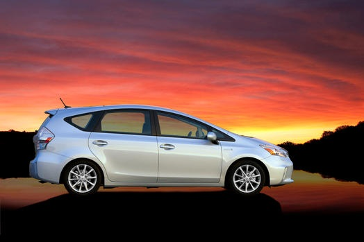The Toyota Prius V was selected as one of the top high-mileage vehicles.